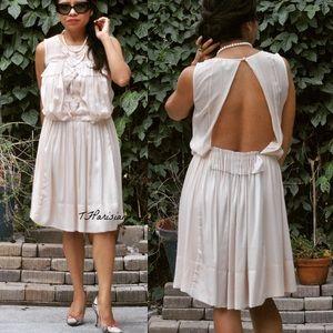 BCBG Max Aria RUNWAY silk blush dress (XS)